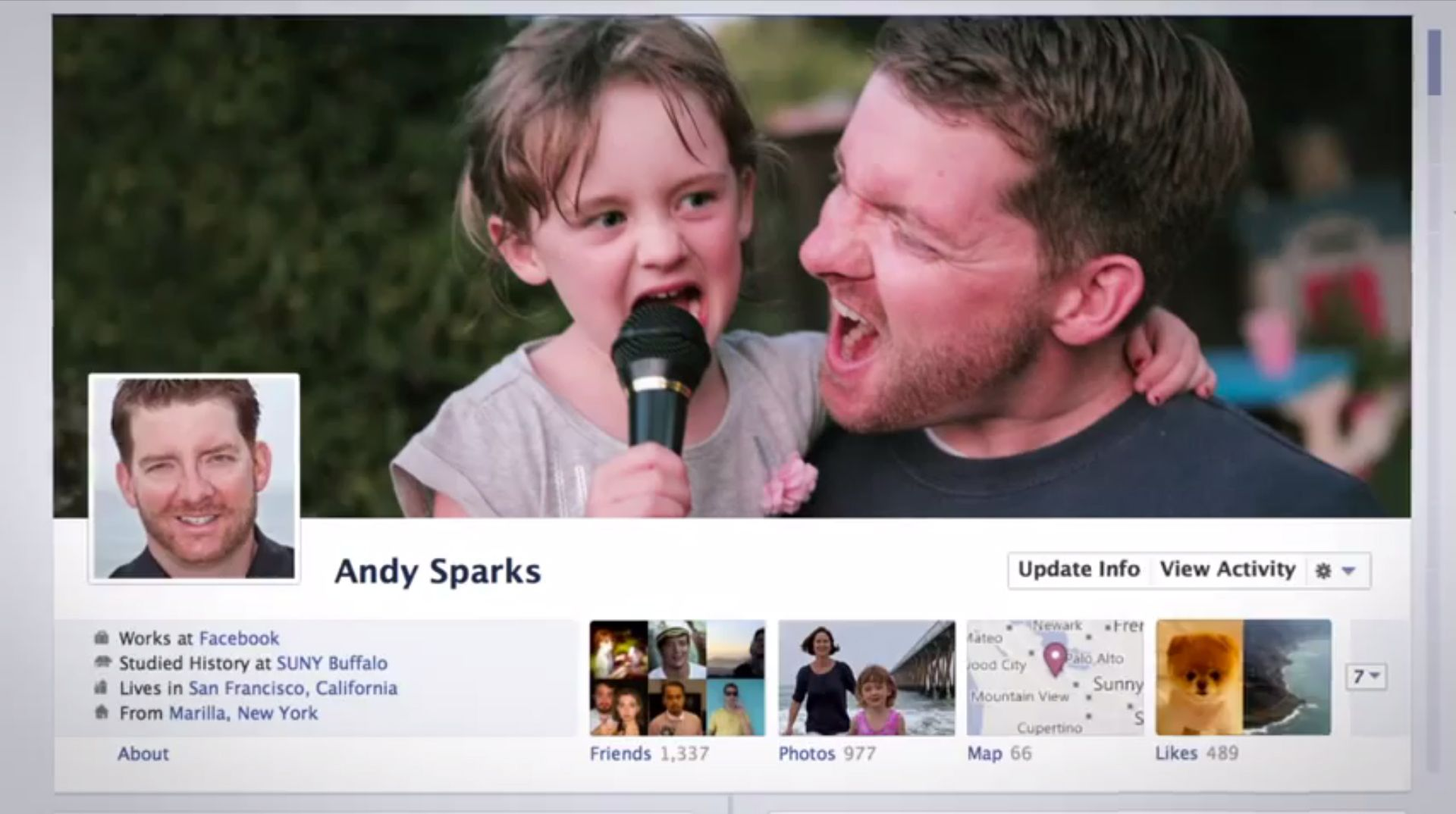 Dette blir starten på den nye profilen din. Foto: Facebook