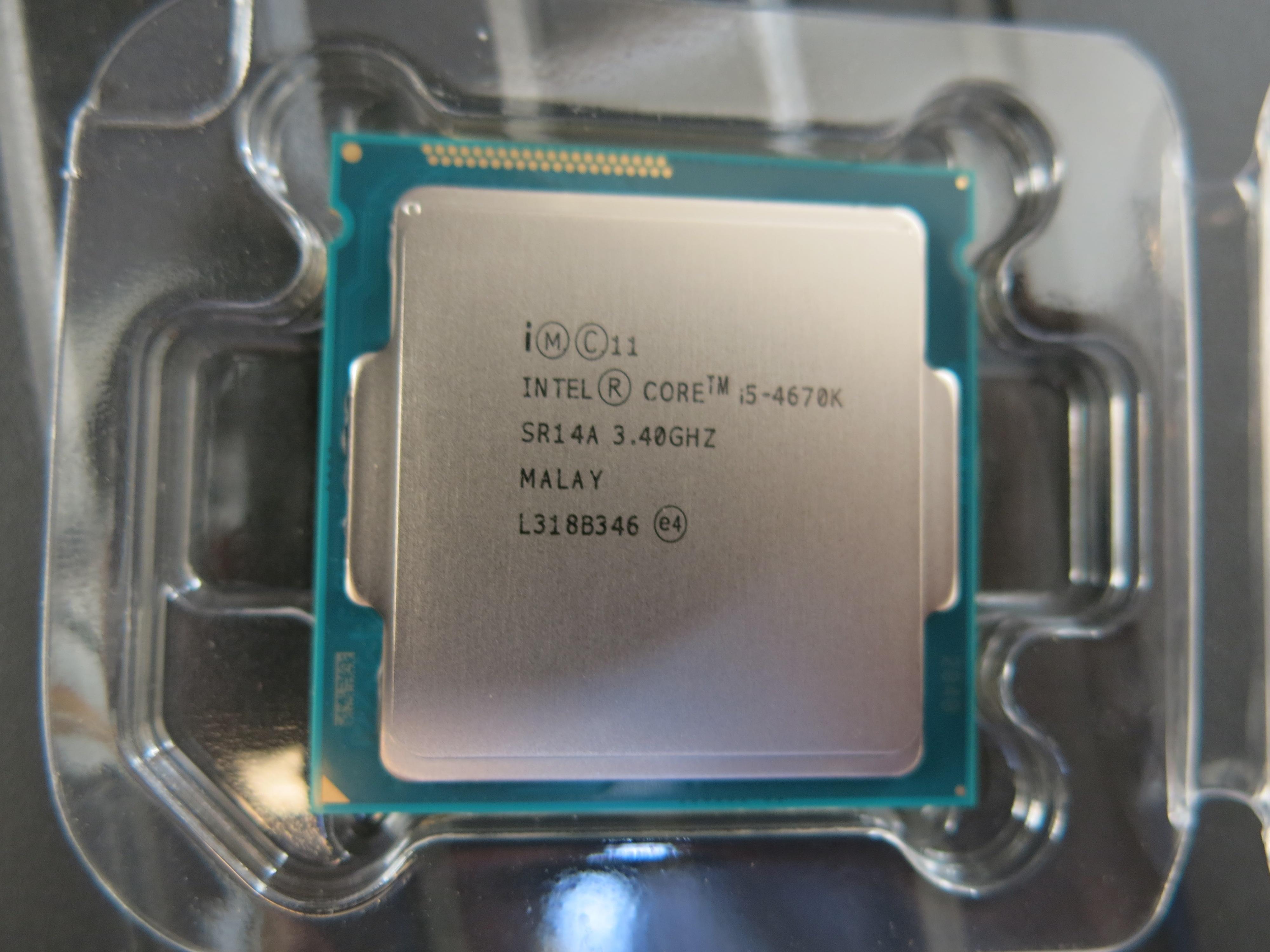 En helt fersk Intel i5 4670K av batch L318 som snart skal under hammeren. Foto: Torstein Sørnes, Hardware.no