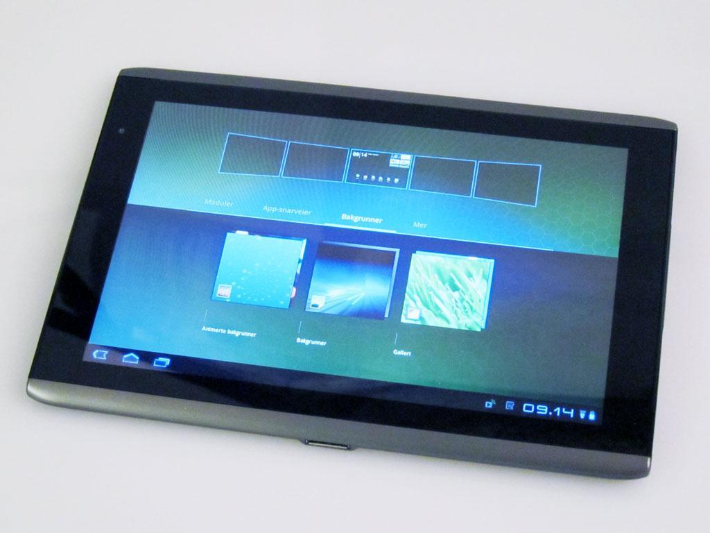 Du kan enkelt tilpasse skjermene på Iconia Tab.