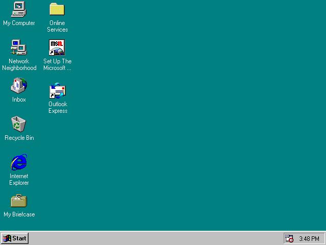Startknappen gjorde sin entré i Windows 95.