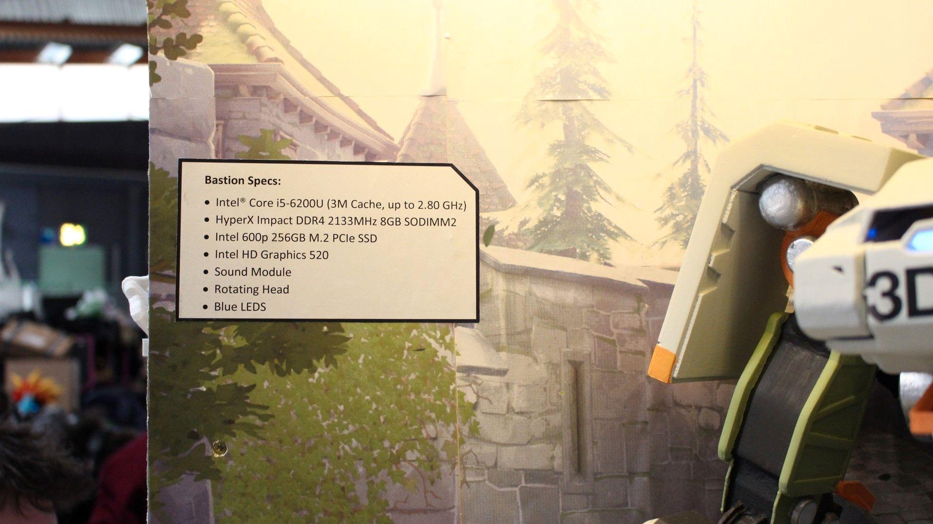 Et oversiktelig skilt viser nysgjerrige forbipasserende nøyaktig hva Bastion kan yte.