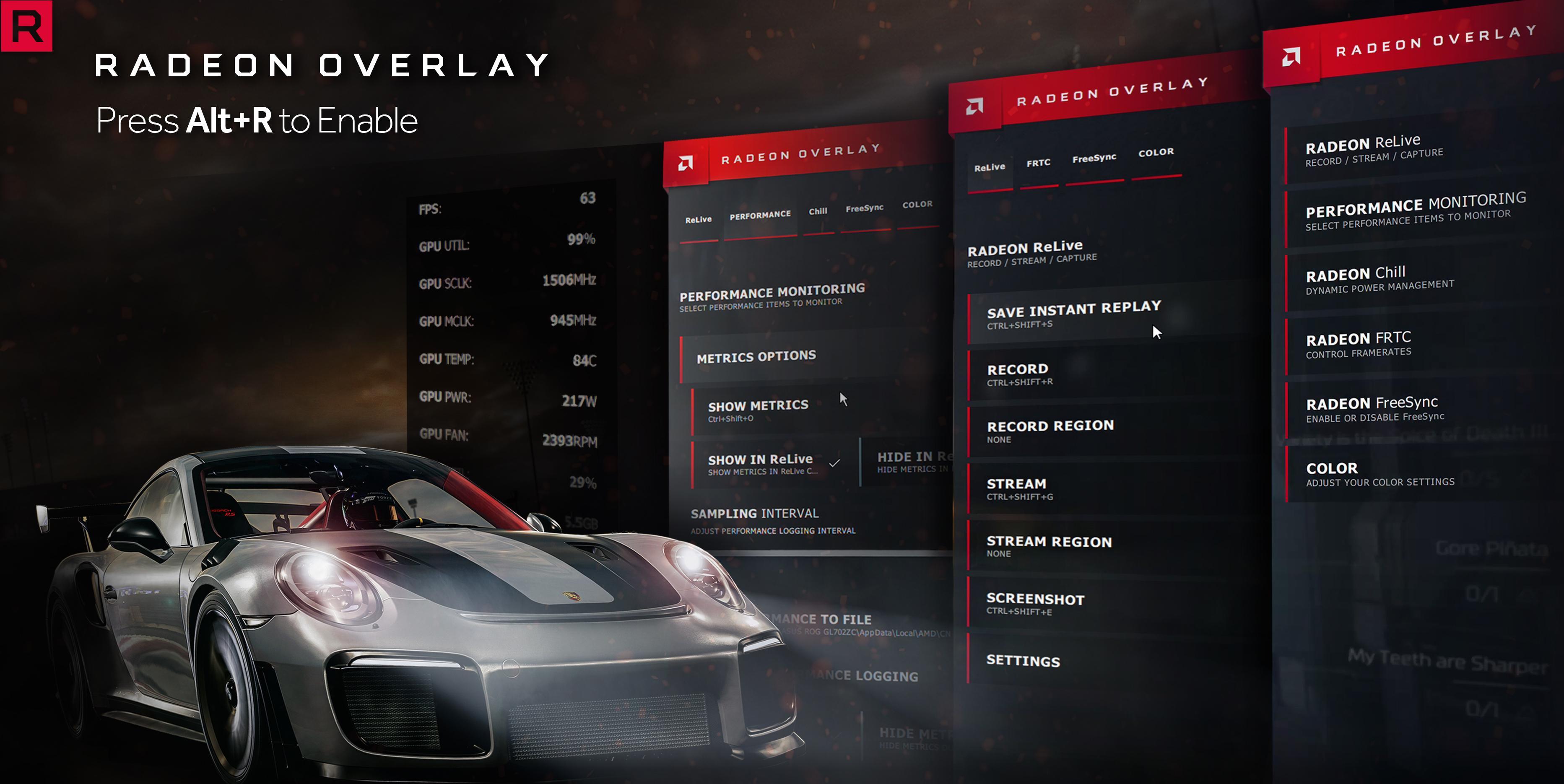 Radeon Overlay. AMD