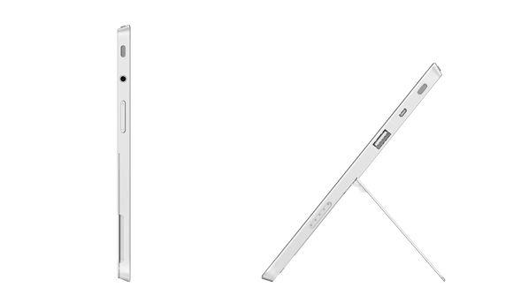 Det nye stativet, som kan låses i to posisjoner, fikk en god del oppmerksomhet. Stativet er likt på både Surface 2 og Surface Pro 2.Foto: Microsoft