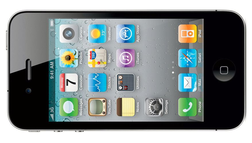 Med iPhone 4 ga Apple oss Retina-skjerm, egenutviklet A4-brikke og dekningsskandalen «Antennagate».Foto: Apple
