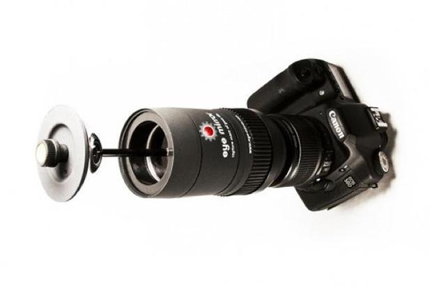 Eye Mirror montert på Canon EOS 7D.Foto: Eye Mirror