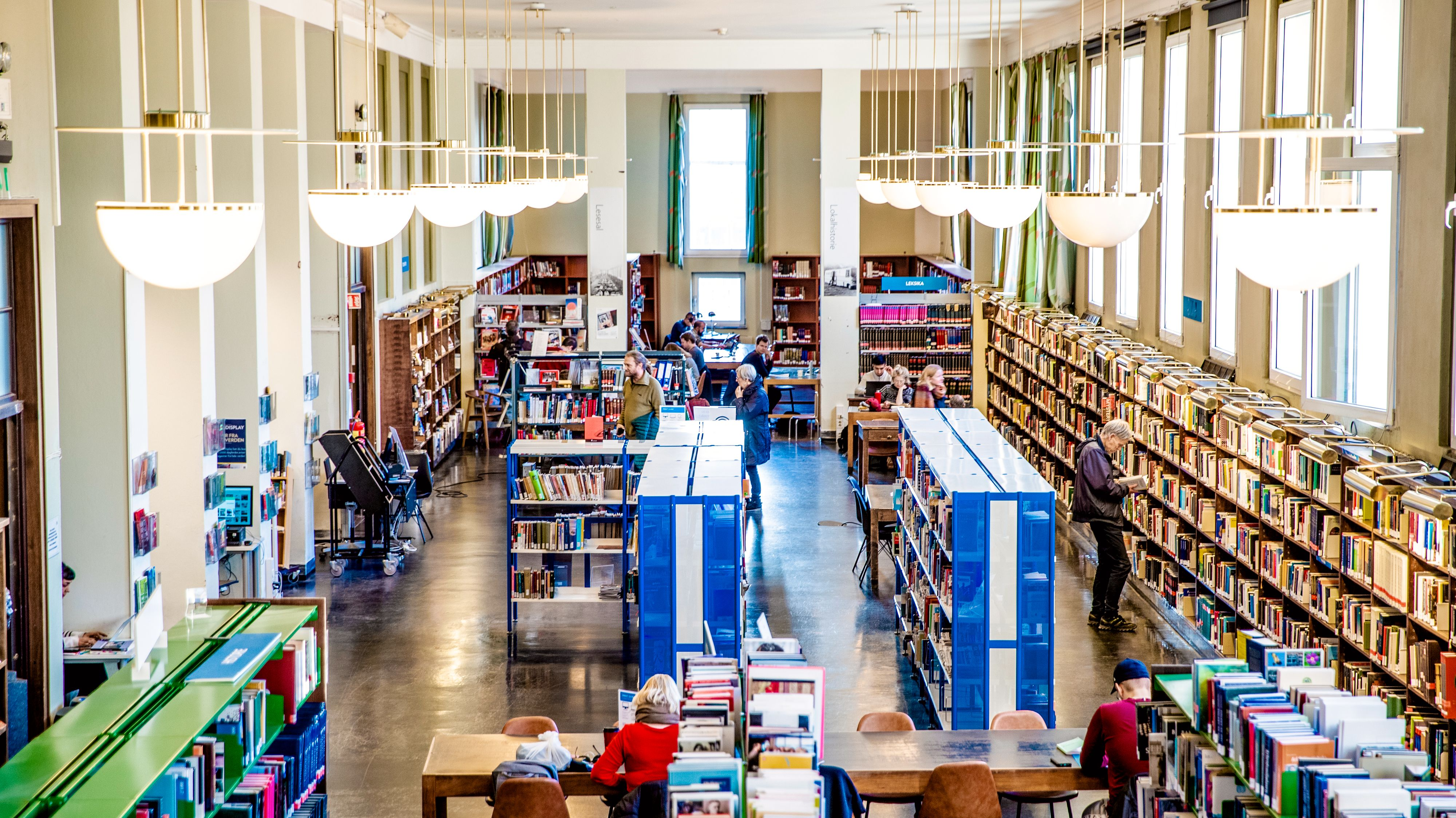 Flere bibliotek er med i en ny strømmetjeneste for film som tilbys brukerne gratis. Her fra gamle Deichmanske bibliotek i Oslo.