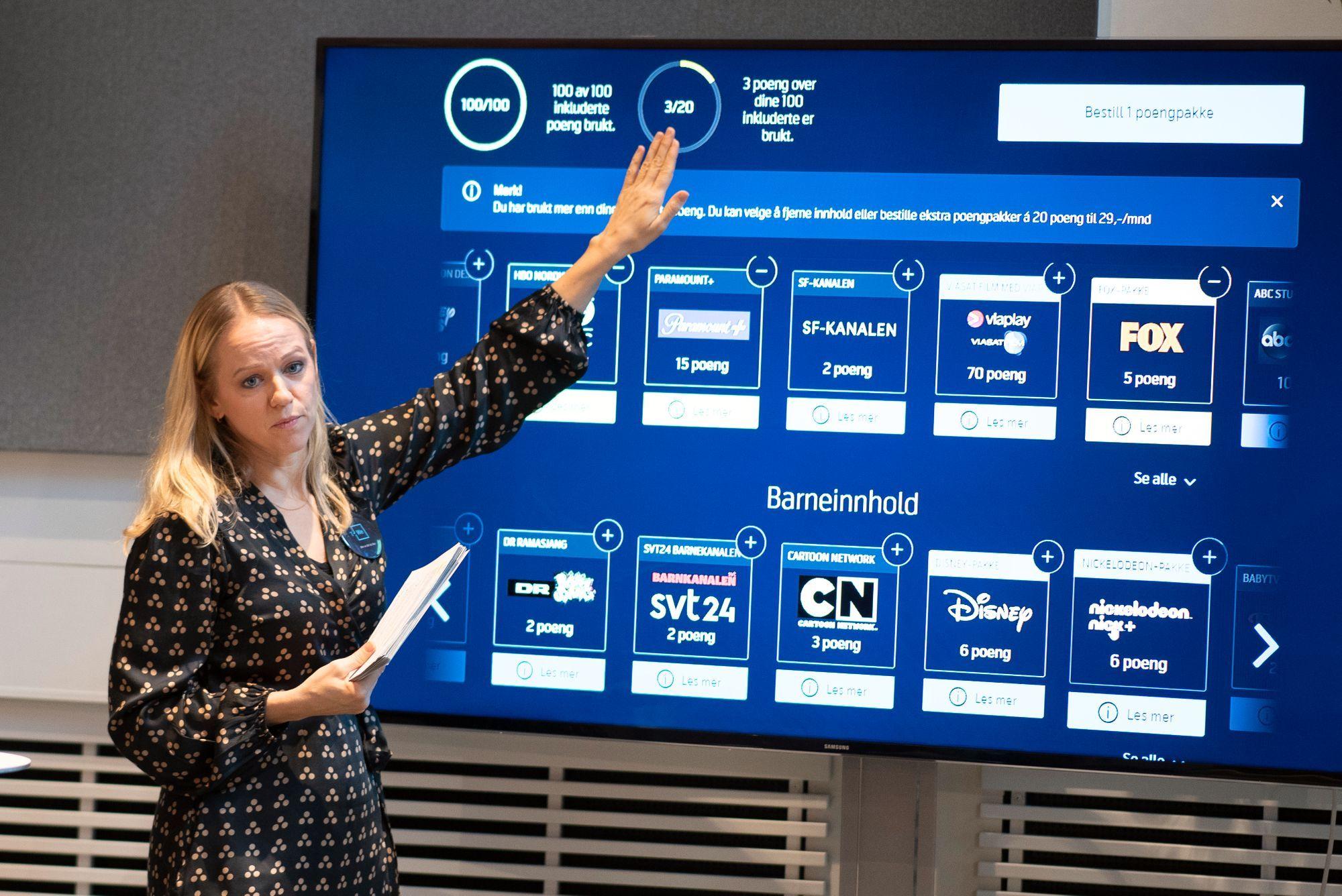 TV-direktør Camilla Amundsen i Telenor sier de har forståelse for at den nye løsningen er «uvant» for kundene.