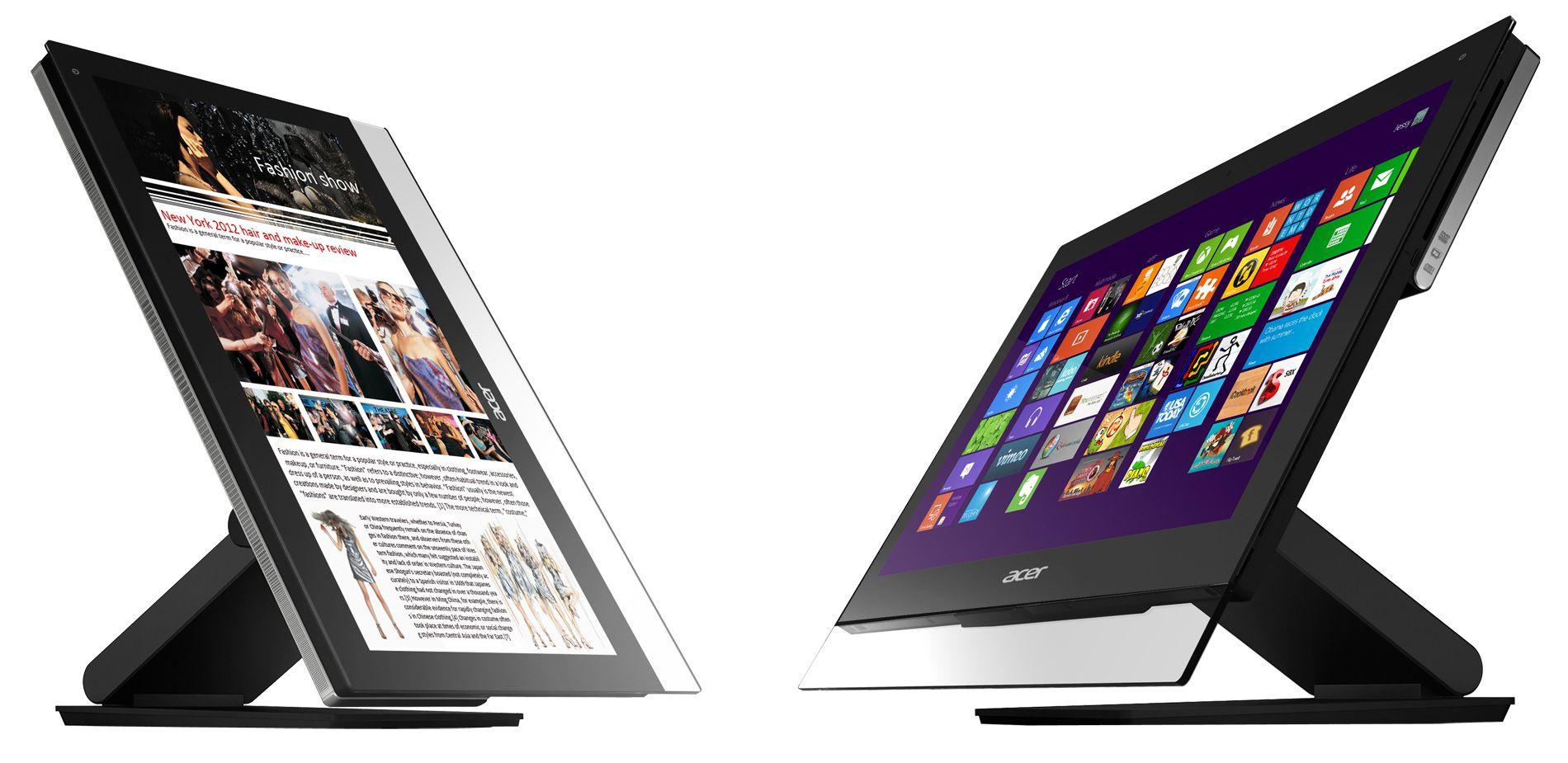Acers nye alt-i-ett-maskiner er både tynne og berøringsfølsomme.Foto: Acer
