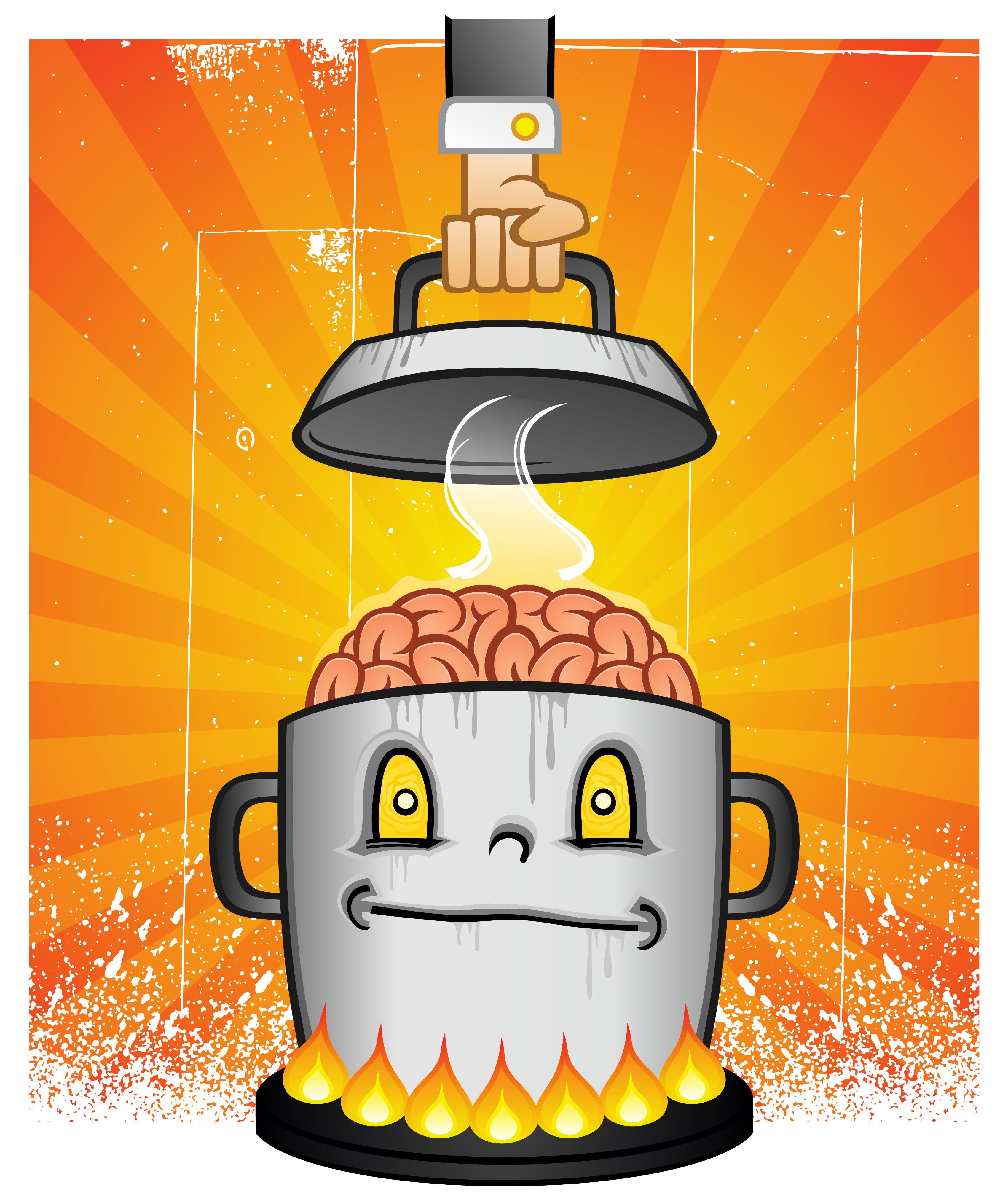 Det skal mer varme til for å koke hjernen.