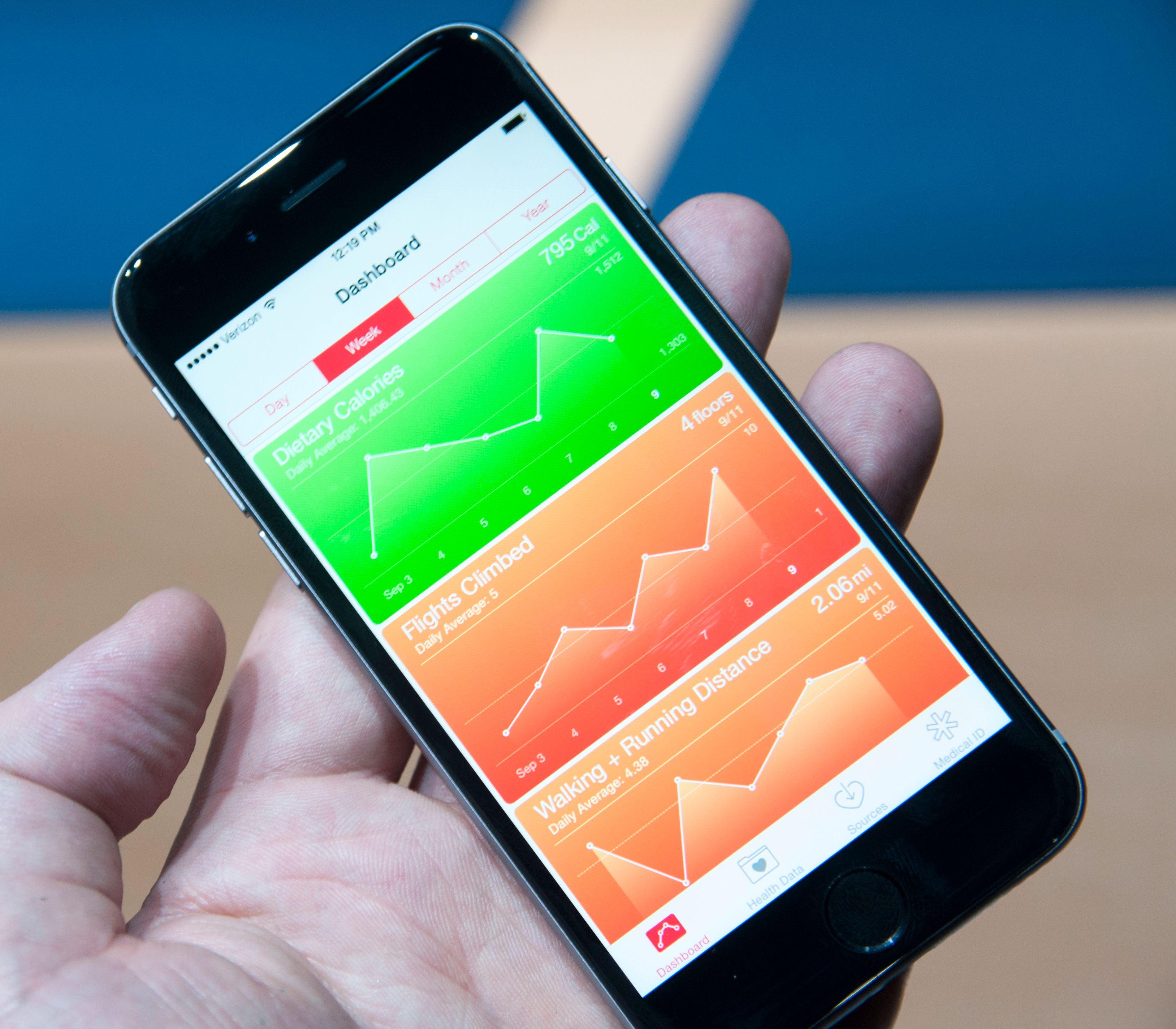 Som mange andre mobilprodusenter satser også Apple på helse.Foto: Finn Jarle Kvalheim, Amobil.no