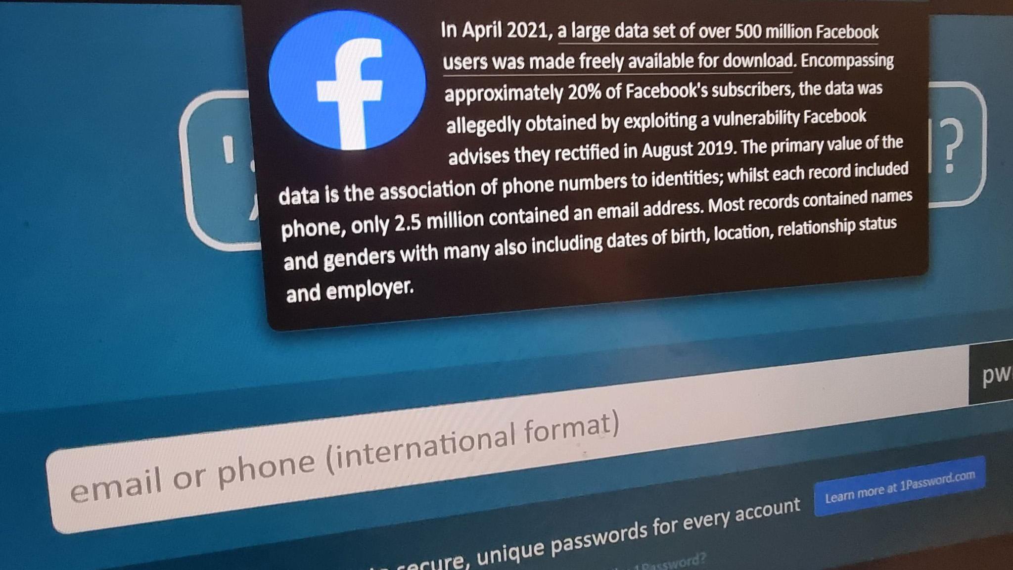 Facebook-data på avveie: Slik sjekker du om passordet ditt har lekket