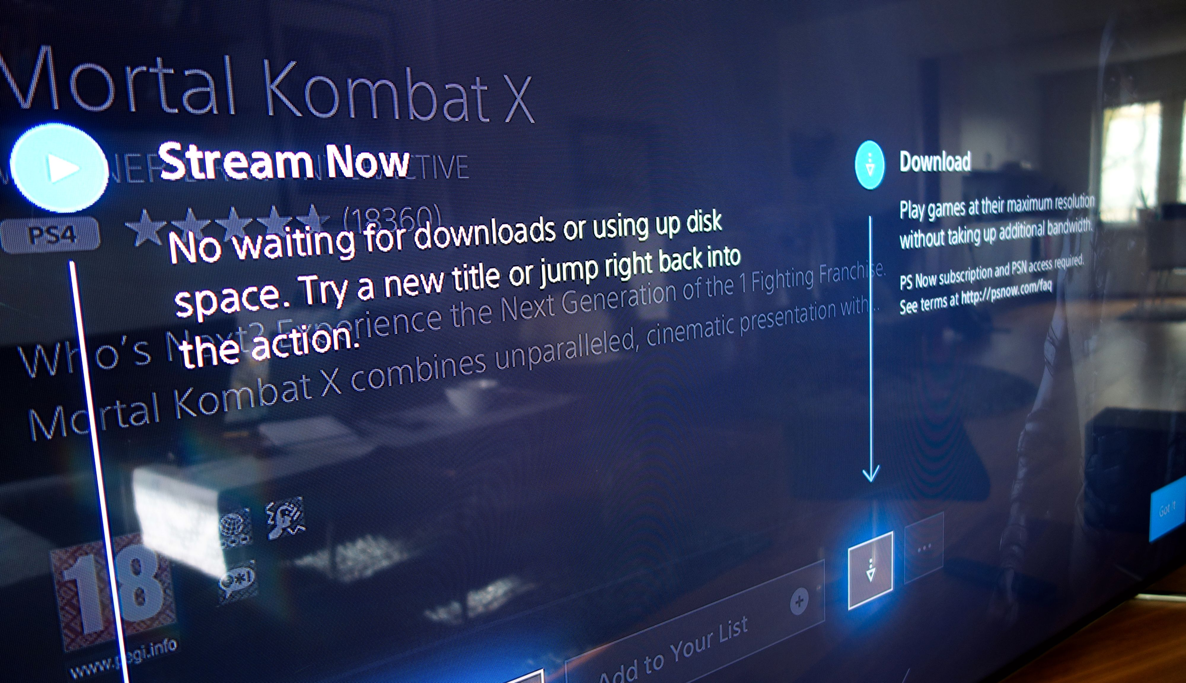 For PS4- og PS2-spill får du stort sett valget mellom å laste ned og å strømme spillet direkte.