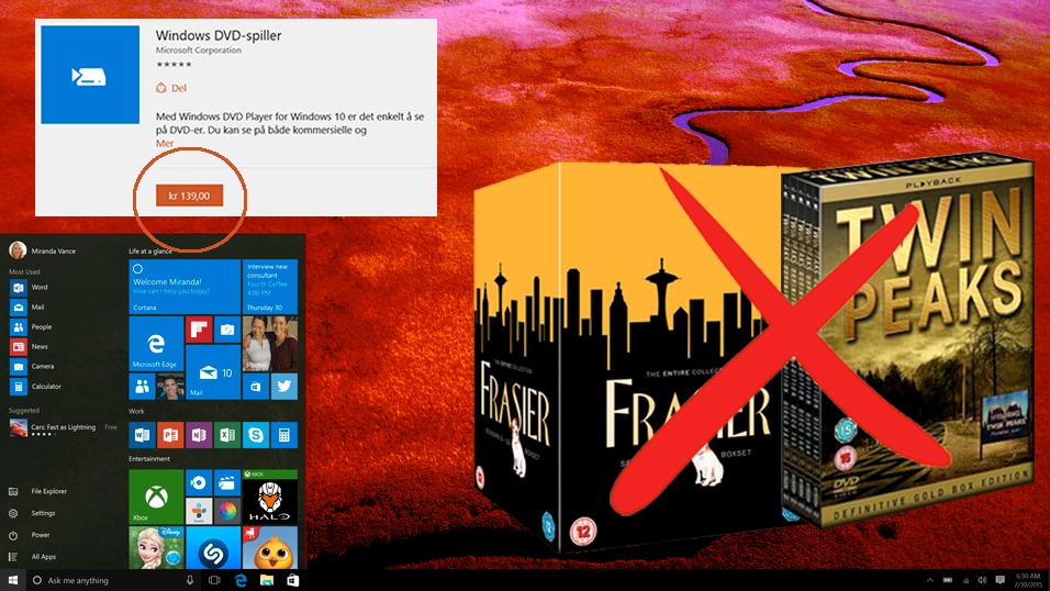 Microsoft: – 139 kroner for å se film i Windows 10, takk