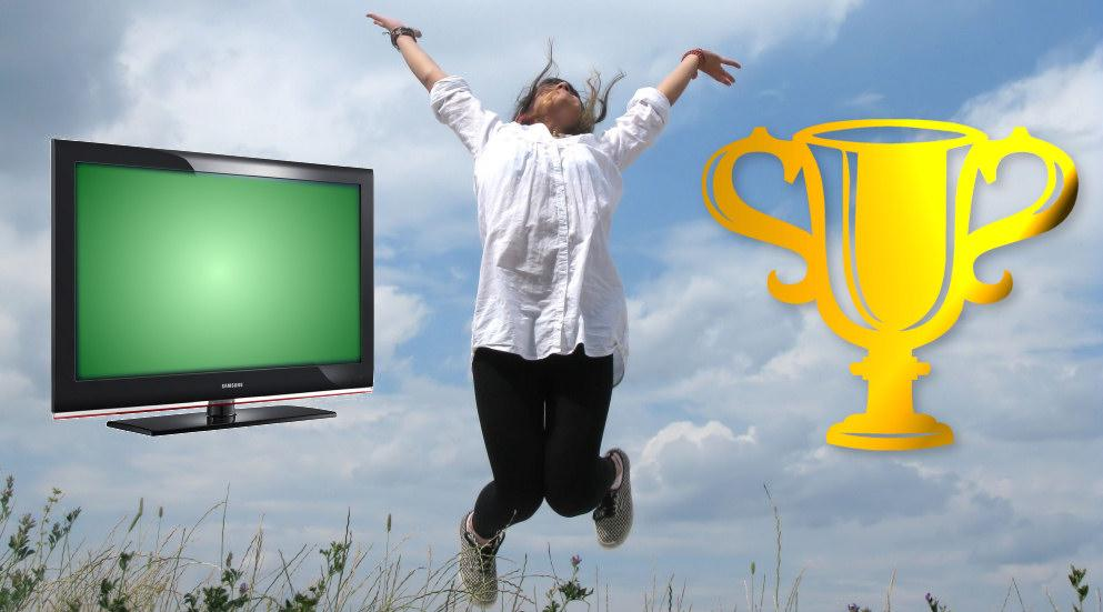 """Vinneren av en 40"""" LCD-TV er..."""