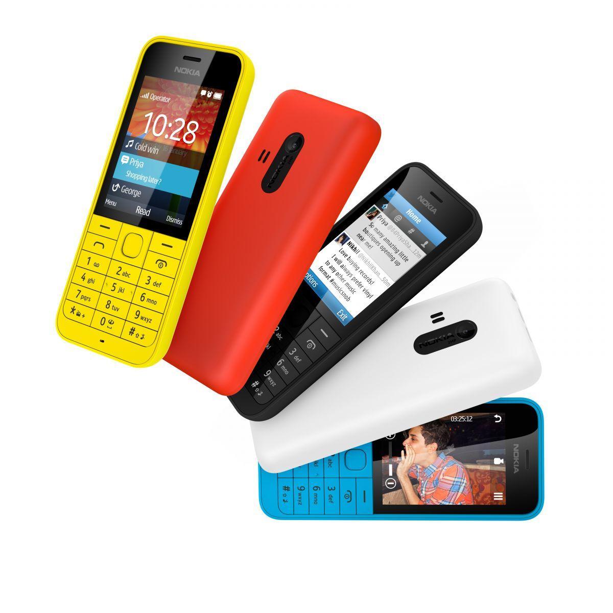 Nokia lanserte også billigmobilen Nokia 220.Foto: Nokia