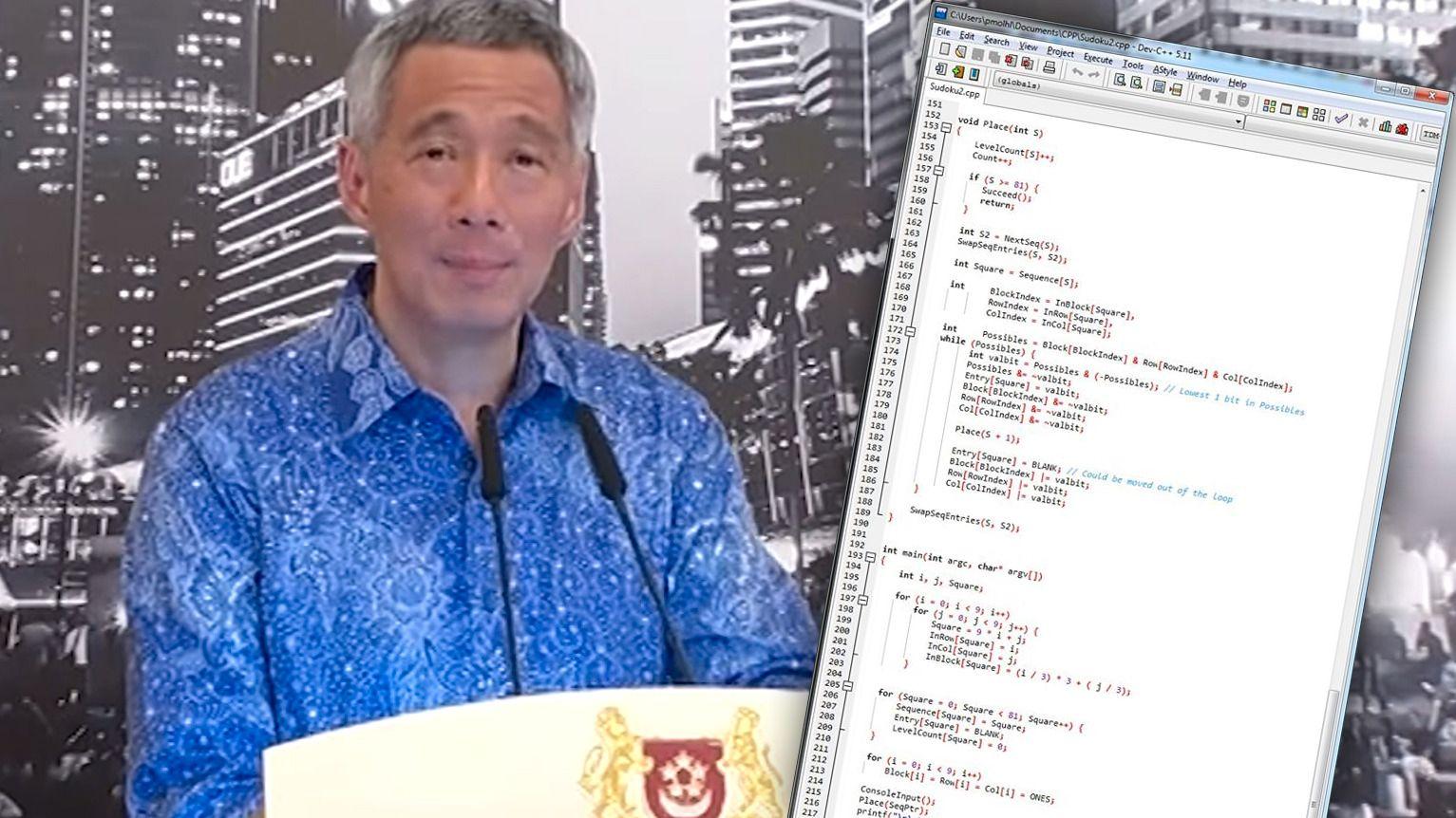 Singapores statsminister kan programmere i C++