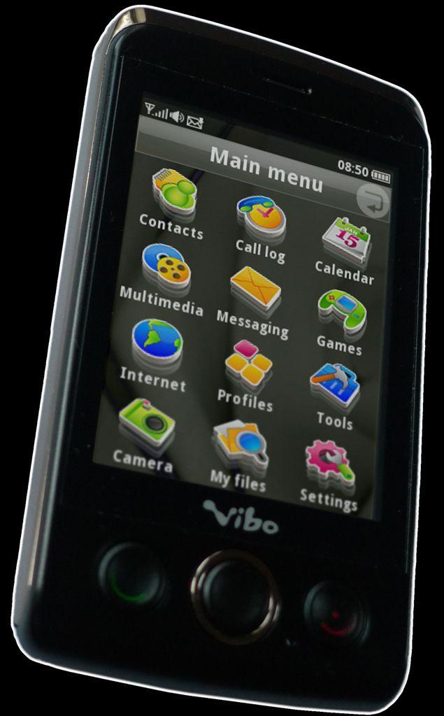 Touchmobilen Vibo T588 selges i Taiwan, og leveres med Smarterphones programvare. (Foto: Smarterphone)