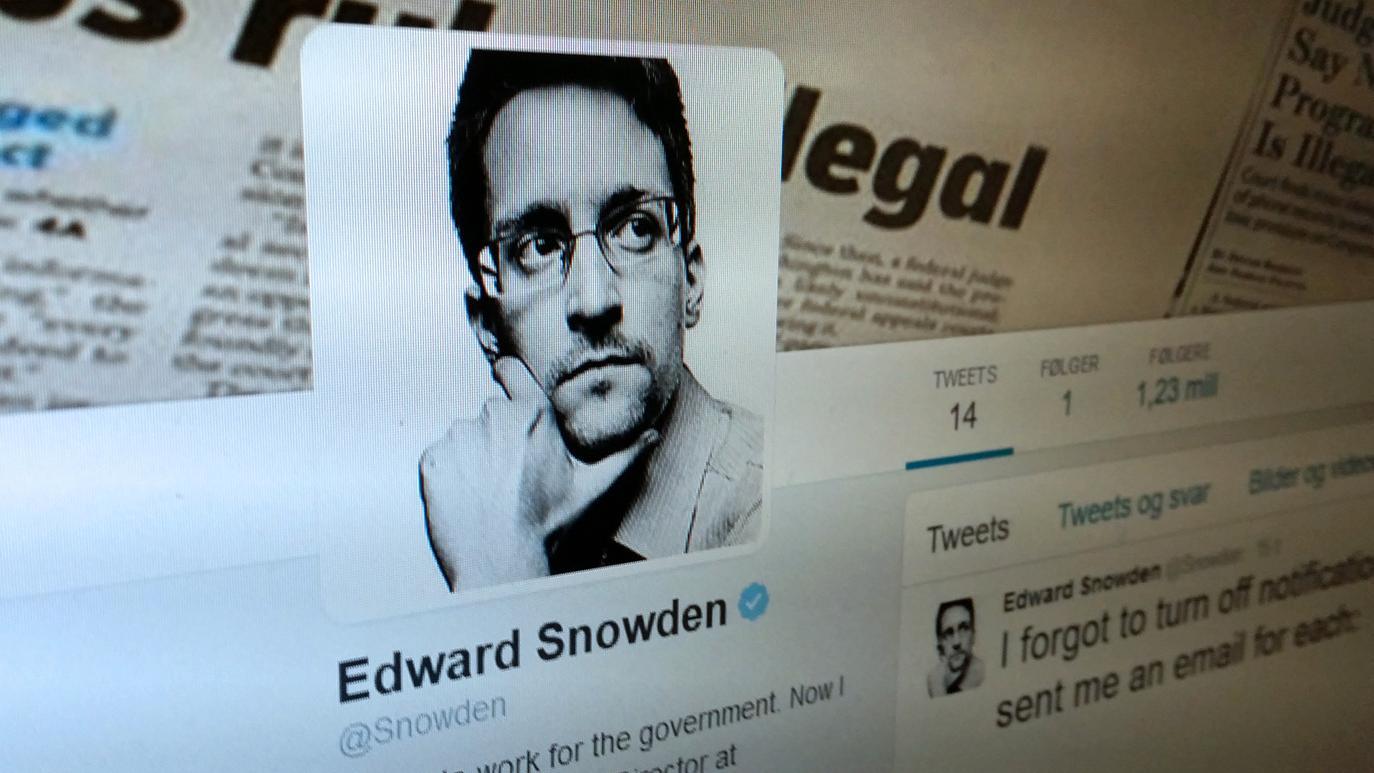 Edward Snowden meldte seg inn i Twitter - fikk innboksen full av 47 GB varslinger