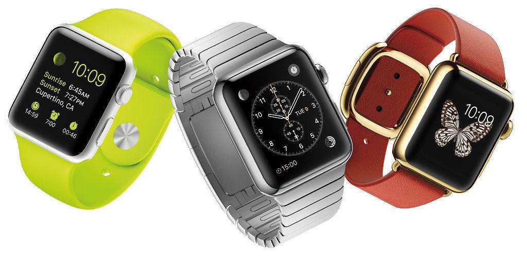 Apple Watch Edition til høyre i bildet. Foto: Apple