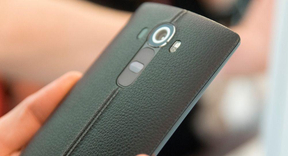 LG G4 kan fåes med bakside i ekte skinn. Foto: Finn Jarle Kvalheim, Tek.no