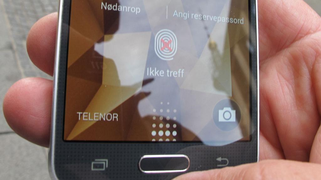 Fingeravtrykksensoren klarer ikke alltid å lese avtrykkene våre.Foto: Espen Irwing Swang, Tek.no