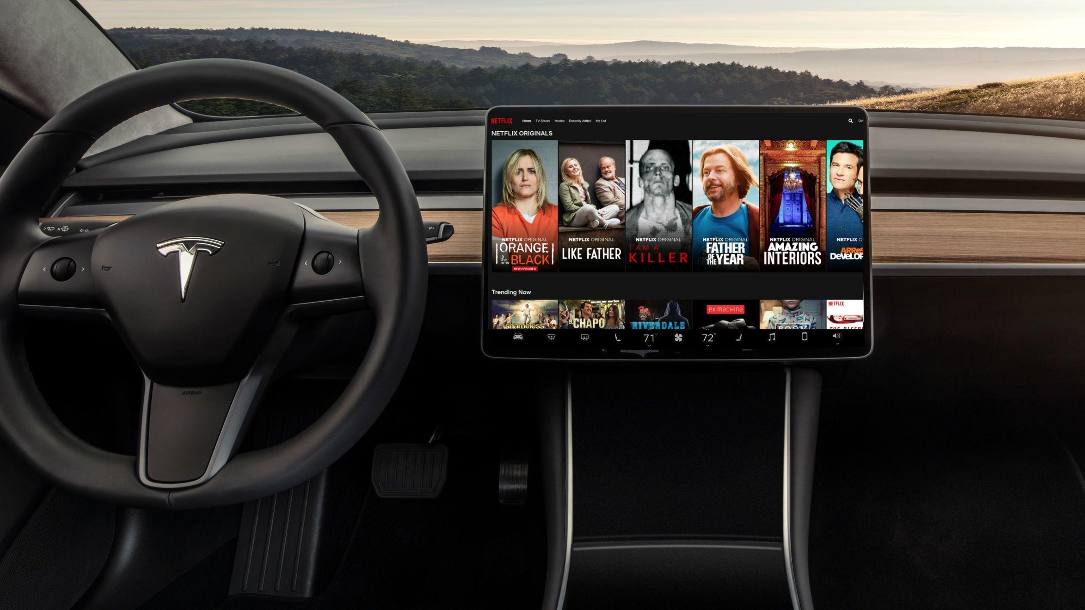 Teslas elbiler får snart YouTube og Netflix