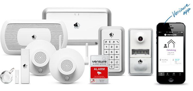 Verisure er en av flere som leverer trådløse alarmsystemer. Foto: Verisure
