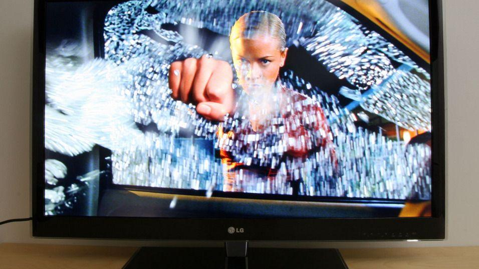 LG fortsetter satsingen på Cinema 3D. Her fra 2011-modellen LW550W.Foto: Hardware.no