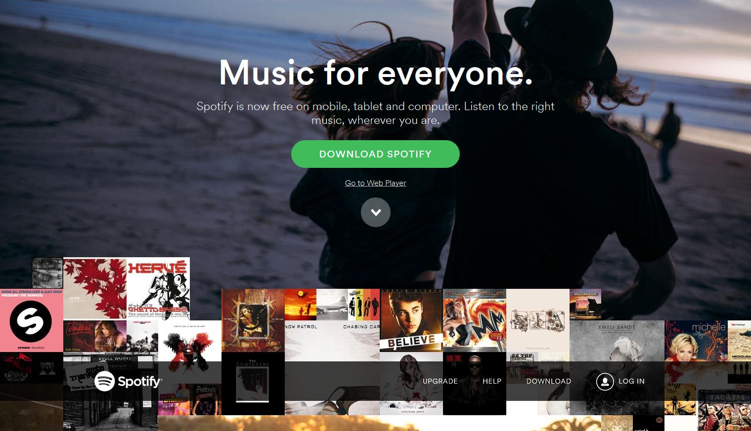 Spotify er en populær tjeneste. Foto: Spotify