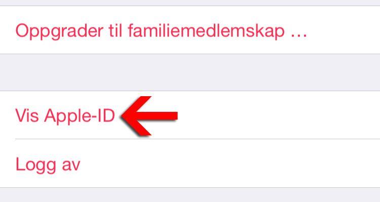 Vis Apple-ID.