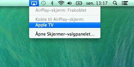 Via Apple TV kan nå brukes TV-en som en egen skjerm.