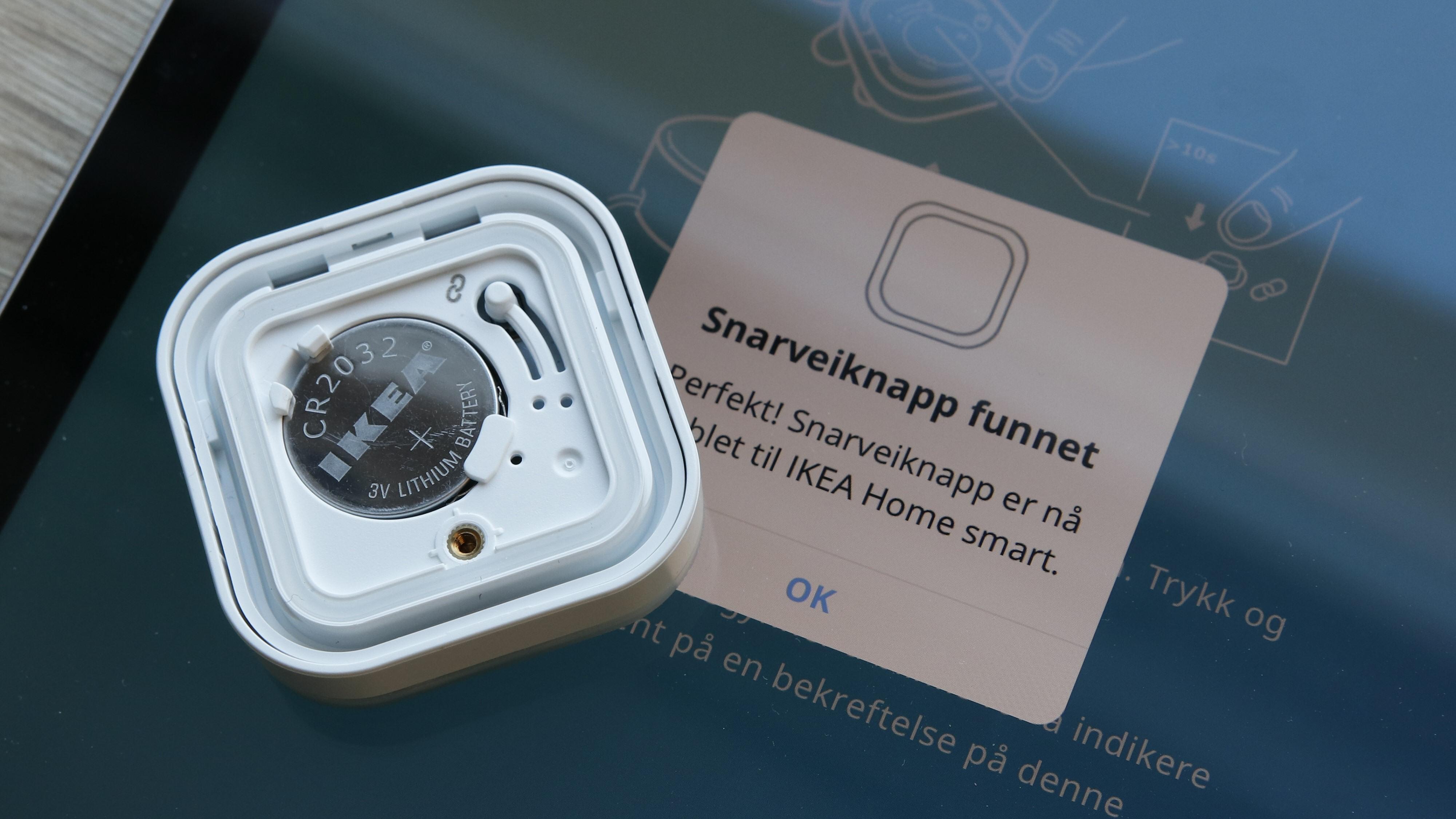 For at den skal virke, må snarveisknappen pares med Ikeas smarthub. Det er prosess som heldigvis er godt forklart i appen.