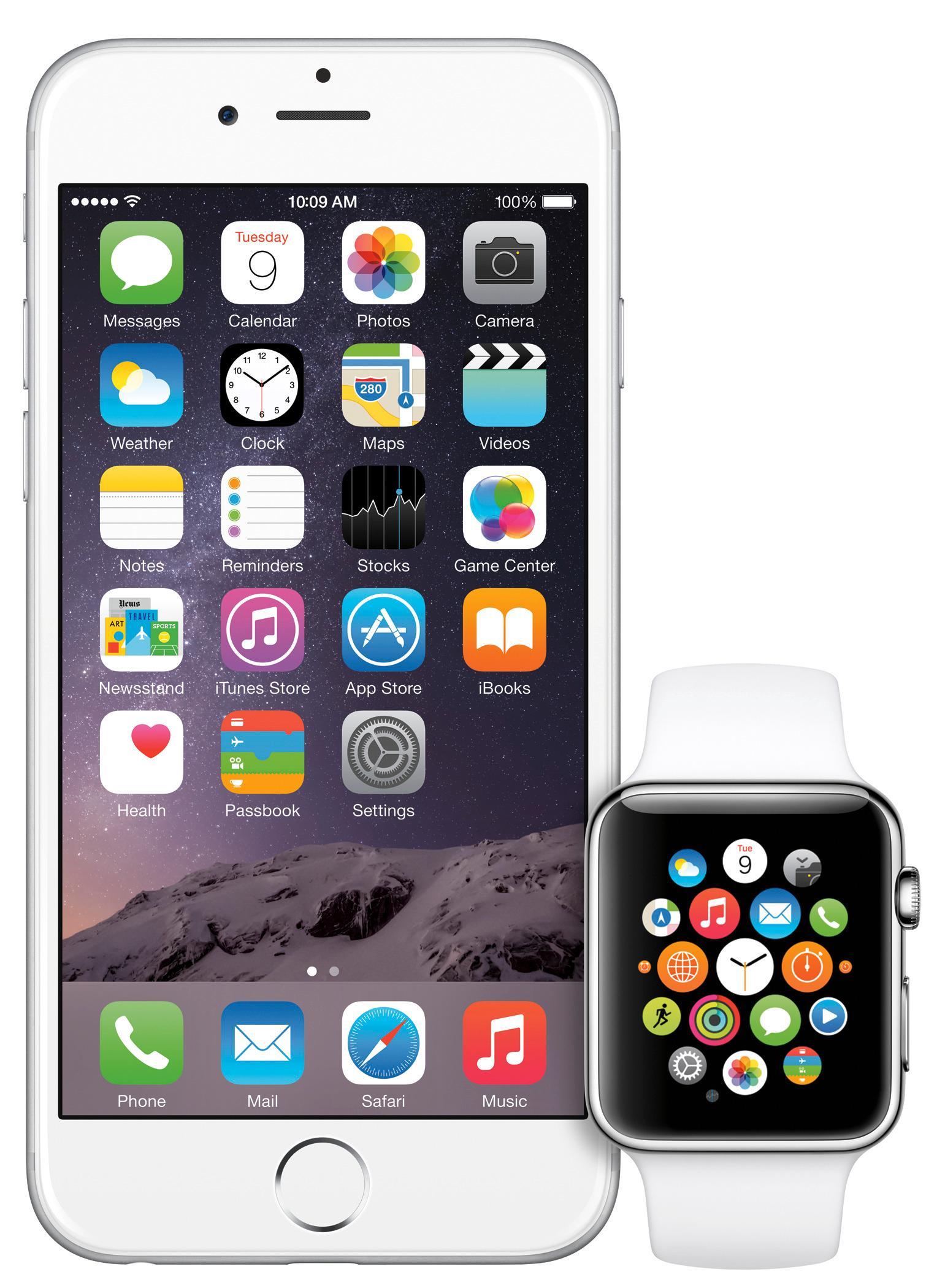 Apple Watch er bygd for å fungere i tett partnerskap med iPhone. Foto: Apple