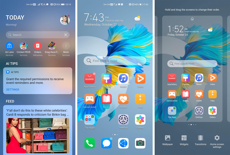Huawei har en lang rekke egne tjenester ferdiginstallert.