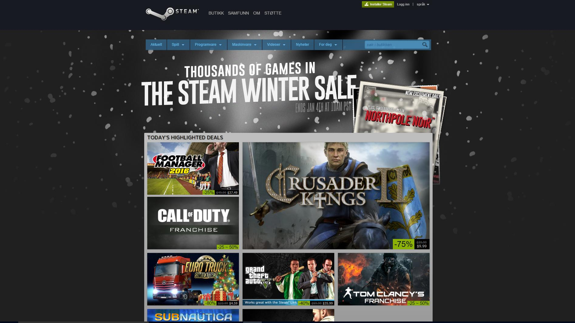 Steam opplevde sikkerhetstrøbbel i julen
