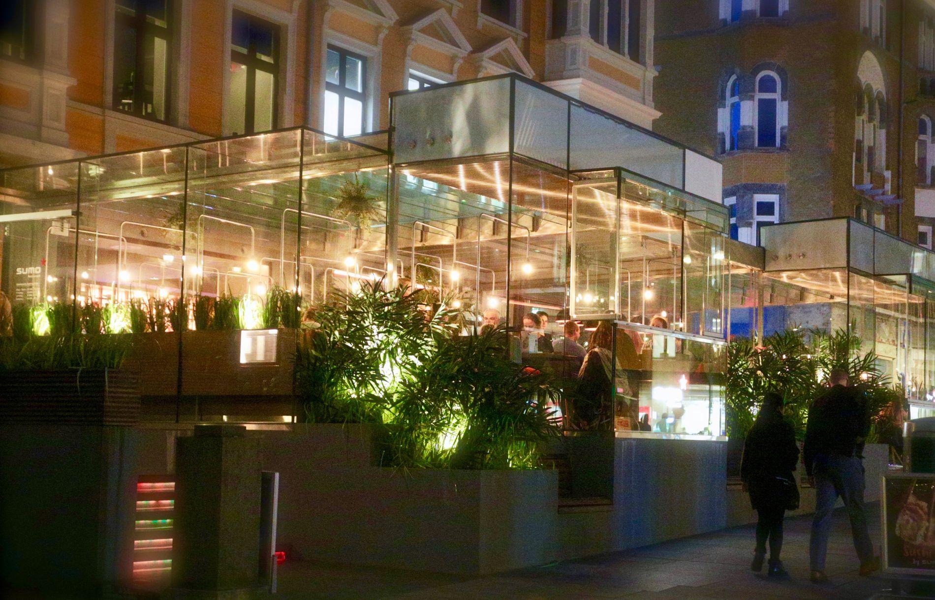 Sumo i Bergen sentrum er nyoppusset med ny og lekker uteservering under glasstak.