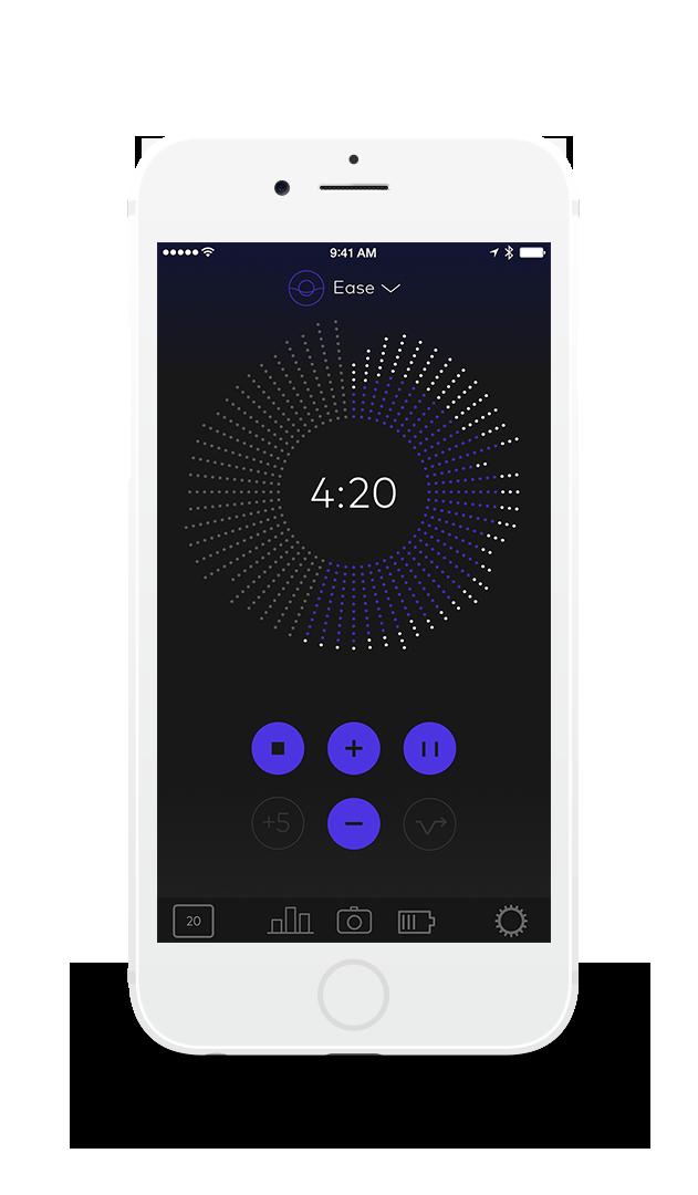 Thync fungerer sammen med en mobilapplikasjon. Foto: Thync