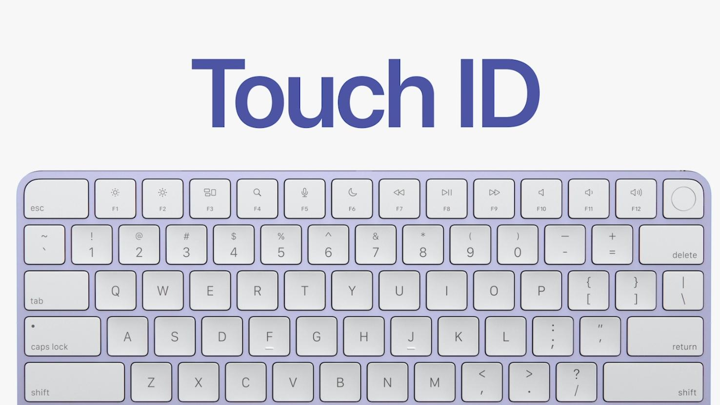 Tastaturet til iMac kommer nå i utgaver med forskjellige farger og støtte for Touch ID.