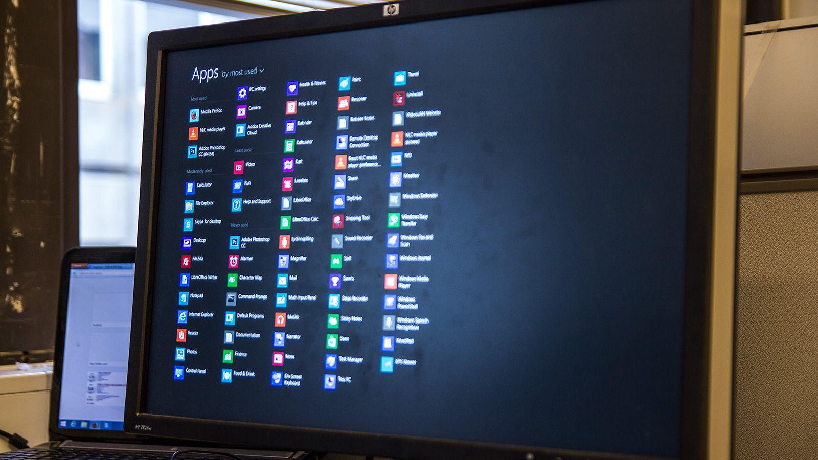 En skikkelig ansiktløftet startskjerm, og en App-skjerm som går an å finne, er bare noen av mange små endringer i Windows 8.1.Foto: Varg Aamo, Hardware.no