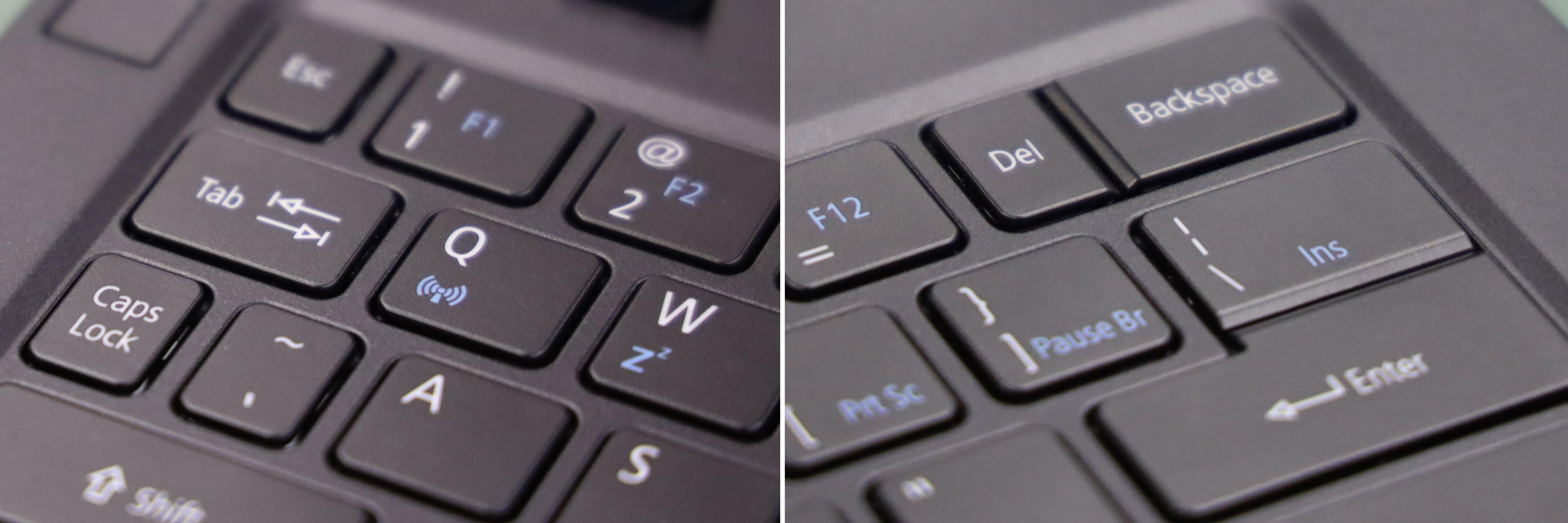 Legg merke til det merkelige tastaturoppsettet.