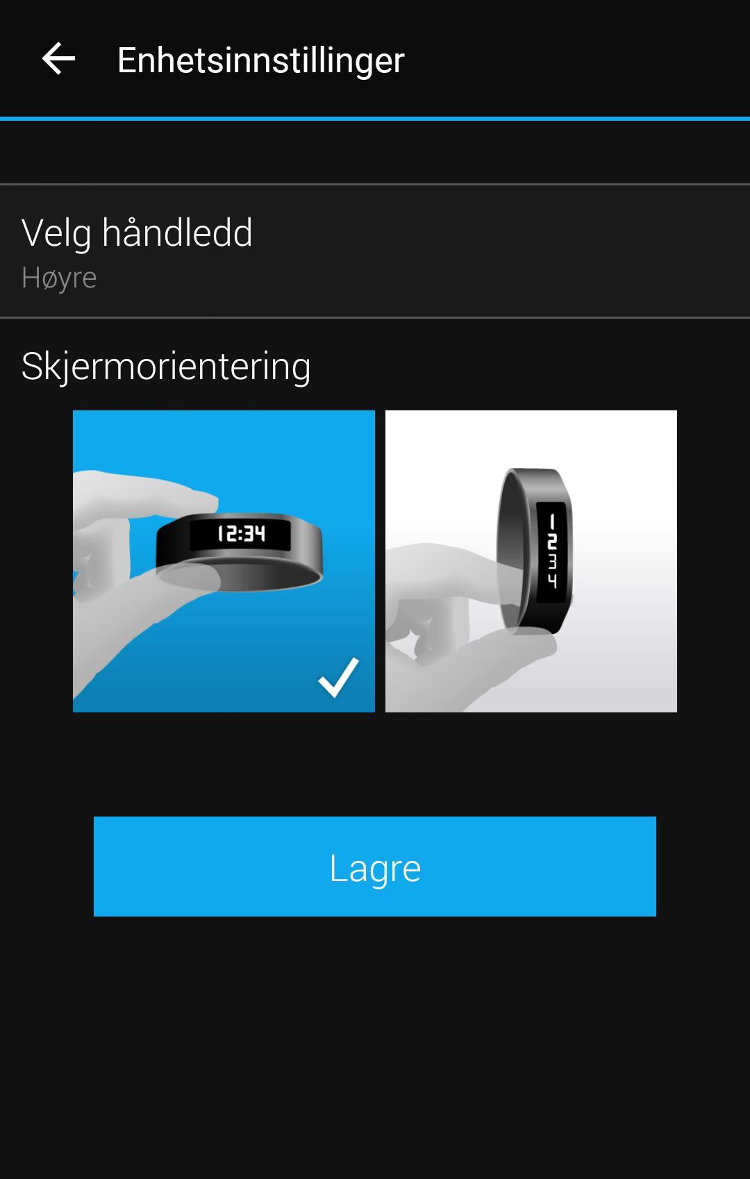 Du kan selv velge hvordan displayet skal vise informasjon.