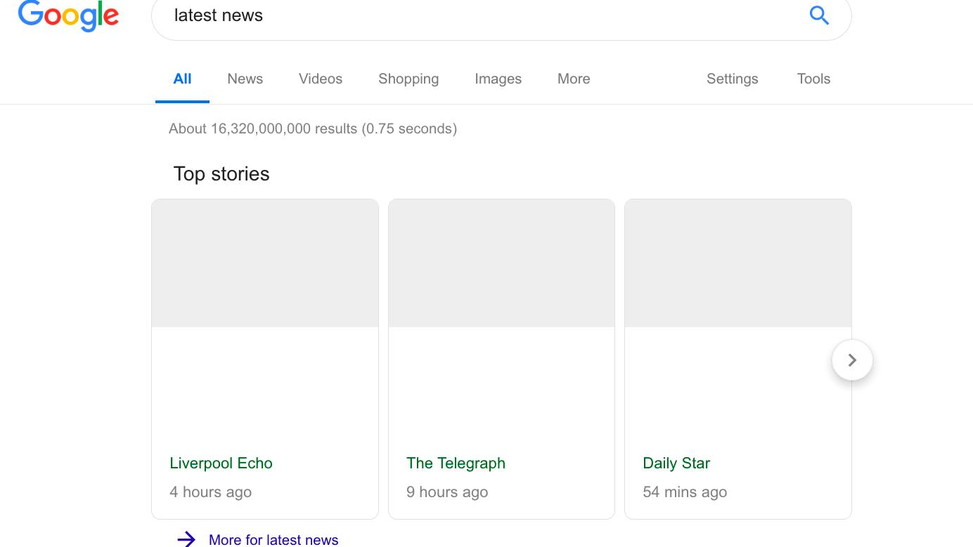 Google advarer mot tomme søkeresultater