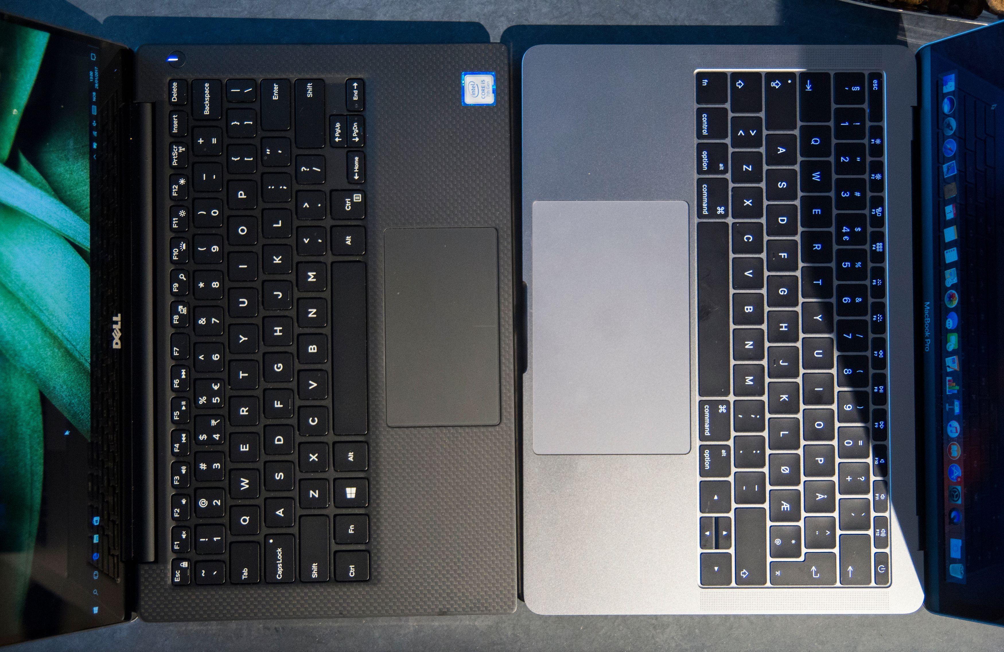 Apple har utstyrt sin MacBook Pro med en langt større pekeplate, som dessuten er mer presis enn XPS sin.