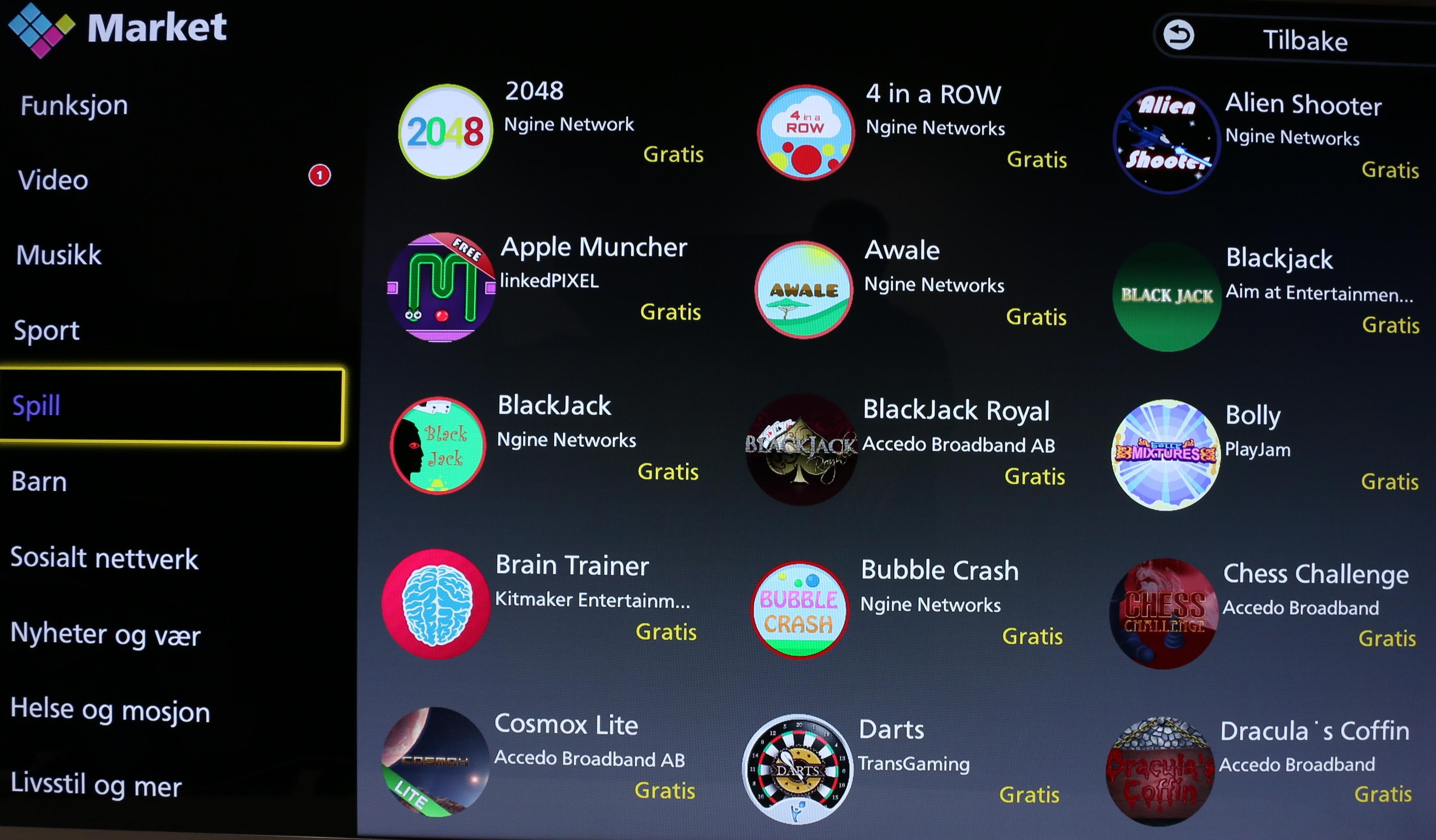 Inne i app-butikken så er det lite å velge mellom sammenlignet med andre alternativer på markedet.
