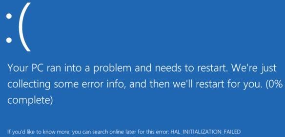 Blåskjermen fikk en real overhaling i Windows 8, og den vil i alle fall gi inntrykk av at den er lei seg for at dataene dine kan ha gått tapt. Foto: Wikimedia.