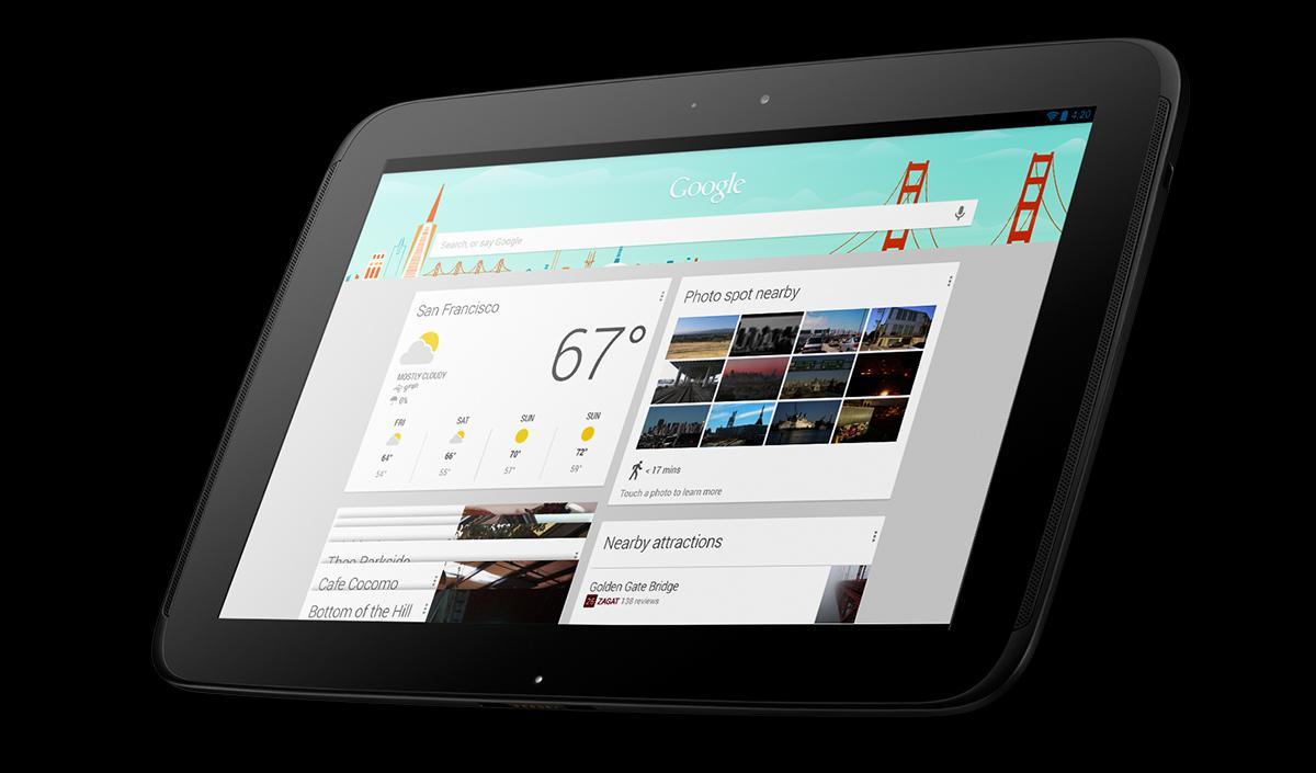 Google Now på nettbrettet Nexus 10.Foto: Google