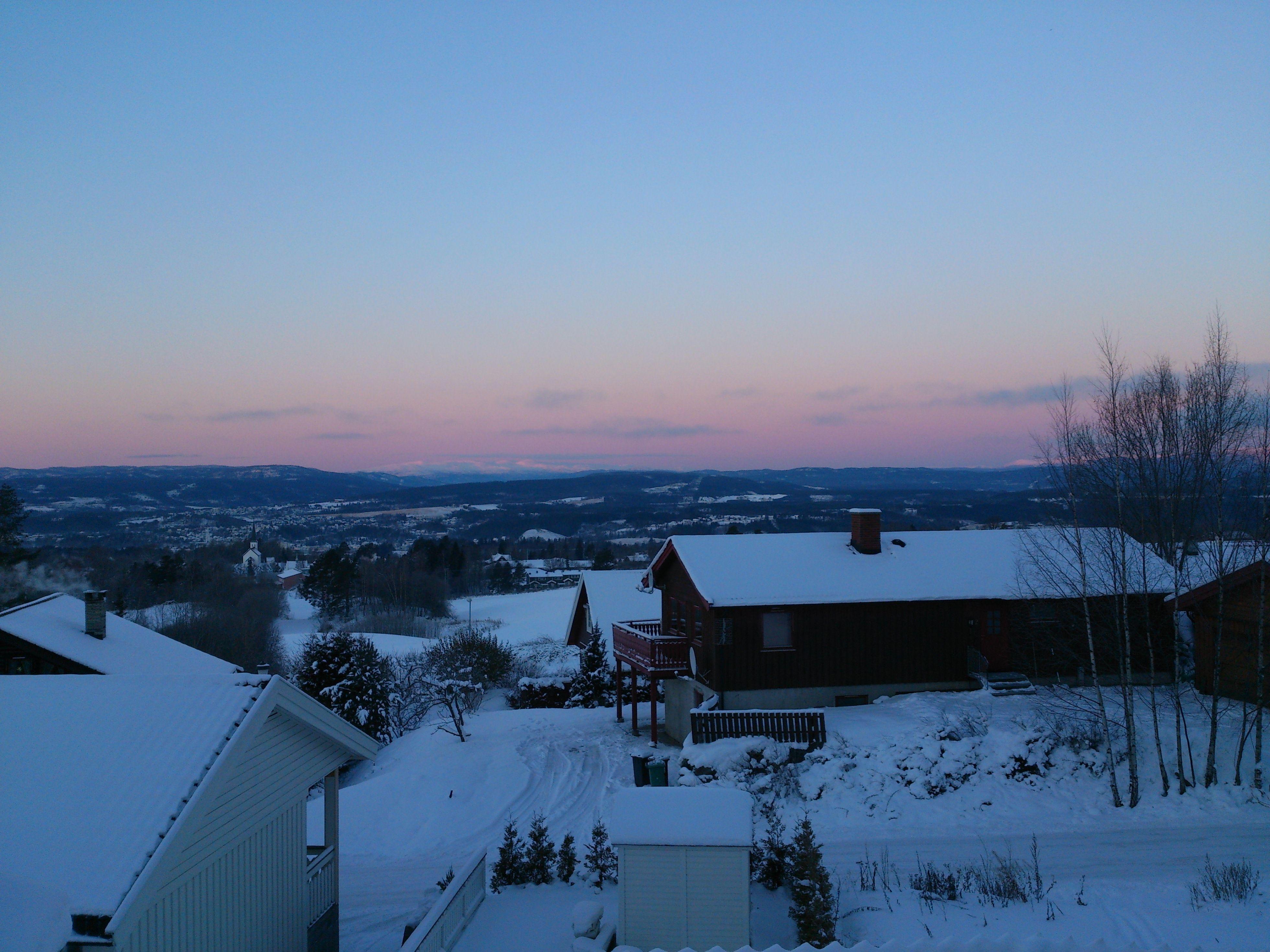 Mot Norefjell før soloppgang