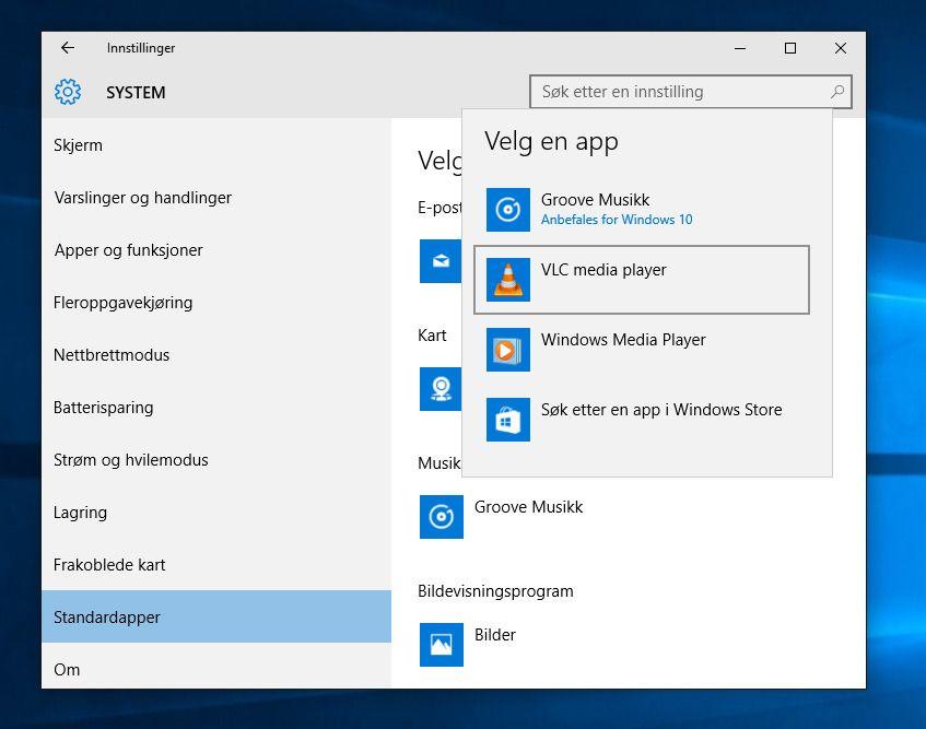 Utvid horisonten, finn alternative apper til Microsofts egne og sett dem som dine nye standardapper.