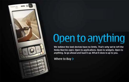 Nokia mener de er åpne. (Klikk for større bilde)