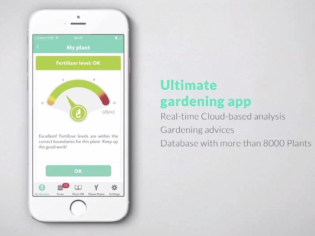Appen gir deg løpende informasjon om plantens tilstand og behov.Foto: Parrot/Skjermdump fra YouTube